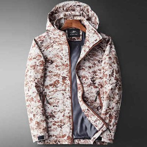 Men's Jacket Outer Mountain Blouson Camouflage Red