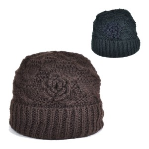 Corsage Knitted Watch Cap Ladies Hats & Cap
