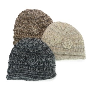 Jersey Knitted Mohair Roll Knitted Crochet Ladies Hats & Cap