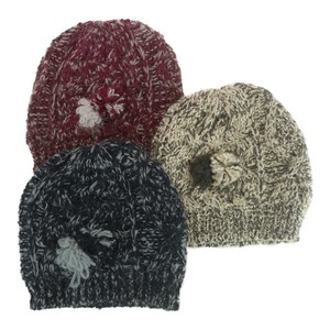 Jersey Knitted Bonbon Corsage Knitted Crochet Ladies Hats & Cap
