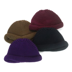 Plain Roll Knitted Crochet Ladies Hats & Cap
