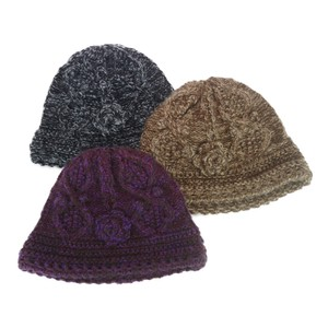 Corsage Knitted Crochet Ladies Hats & Cap