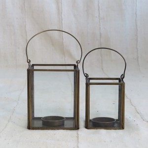 Brass Frame Candle Holder