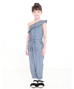 S/S Single-shoulder Frill Overall