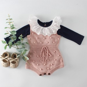 Baby Knitted Rompers Girl Cover All All-in-one Kids Baby