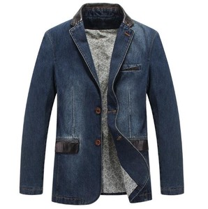 Men's Tailored Jacket Blazer Denim Jacket Casual Suits Slender Outerwear