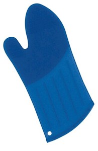 Silicone Oven Mitten Long Blue