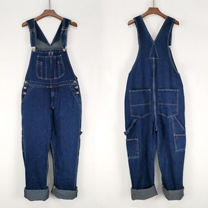 Men's Overall Overall Denim Pants Connection Suspender Inter