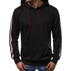 Men's Long Sleeve Men's Hoody Slender Outerwear Top Black