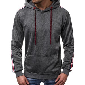 Men's Long Sleeve Men's Hoody Slender Outerwear Top Dark Gray