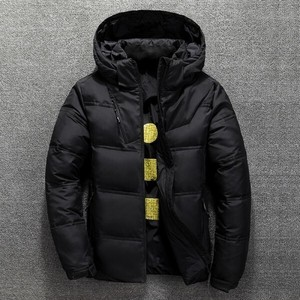 Down Jacket Men's Down Coat With Hood Skiing Outdoor Good Outerwear Black