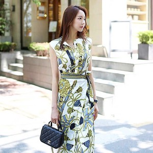 Ladies One-piece Dress Floral Pattern One-piece Dress Party Dress Long