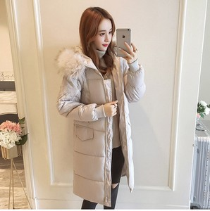 Long Coat Down Coat Ladies Plain A/W Down Jacket Long Short Light-Weight Padding