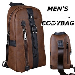 Body Bag Body Bag Men's Ladies Leather Large capacity Diagonally
