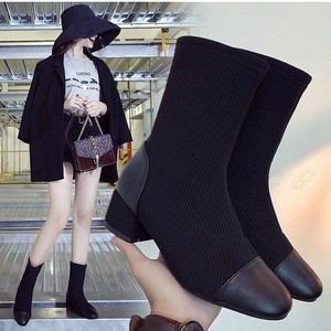 Short Boots Ladies Heel Stretch Shoes Shoe Beautiful Legs