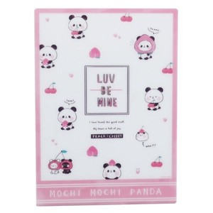 Stationery plastic sheet MochiMochi Panda Stationery plastic sheet Peach Cherry