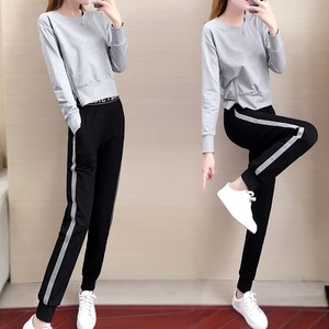 All-in-one Ladies Suit Set 2 Pcs Set Ensemble Hoody Top Long Sleeve