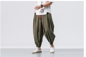 Sarrouel Pants Linen Pants wide pants Men's Chino Pants