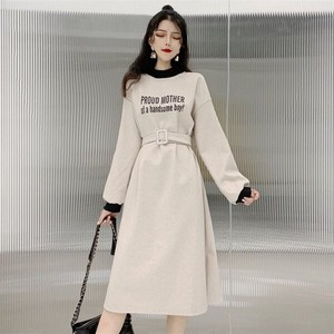 One-piece Dress Ladies Long One-piece Dress Long Sleeve Lean A/W
