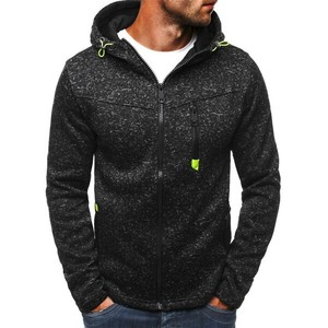 Men's Top Jacket Men's Hoody Long Sleeve Outerwear Sweatshirt Black Gray