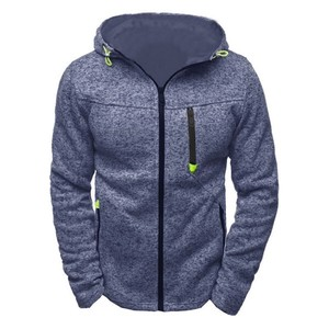 Men's Top Jacket Men's Hoody Long Sleeve Outerwear Sweatshirt Blue