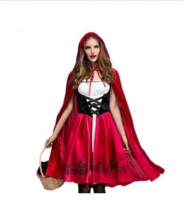 Little Red Riding-Hood Cosplay One-piece Dress Cape Costume Halloween