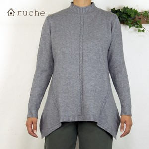 Wool None Early Spring Knitted Tunic