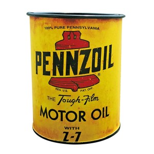 DESKTOP SIGN【PENNZOIL OIL CAN STAND】ペン立て アメリカン雑貨
