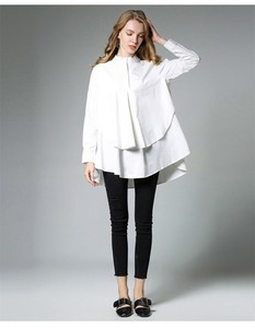 Ladies Blouse Frill Blouse Long Sleeve Dress Shirt White