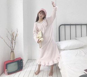 Ladies Pajama One-piece Dress Fluffy Long Thick