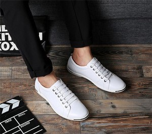 Men's Walking Shoes Casual Business Shoes White