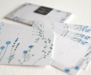 Blue Flower Message Card