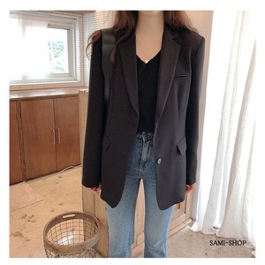 Outerwear Jacket Suits Long Sleeve Blazer Lean Black