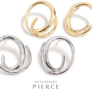 MAGGIO Delicate Unique Design Spiral Hoop Metal Pierced Earring
