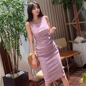 One-piece Dress Long Dress Sexy Long One-piece Dress Sleeveless Dress