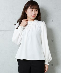 Stand Neck Gather Blouse [ 2020NewItem ]