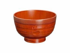 Japan TANAKA HASHITEN Wood Grain Soup Bowl Rabbit Washing Machine