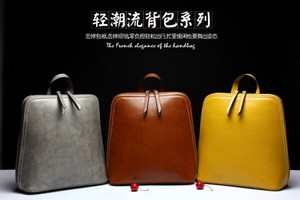 Backpack Genuine Leather Leather Ladies Photography Large capacity Commuting Trip
