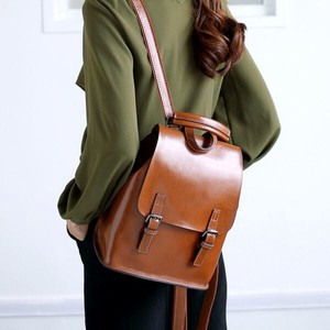 Ladies Backpack Shoulder Bag Cow Leather Diagonally Multiple Functions