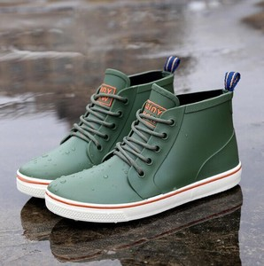 Men's Rain Footwear Shoes Waterproof Boots Rain Boots Two Way Shoe Green