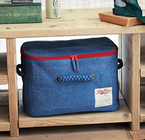 Storage Storage Box Bed Denim Blue