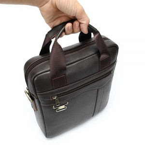 Genuine Leather Body Bag Men's Retro File Shoulder Bag Closs Body Bag