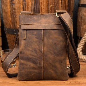 Cow Leather Body Bag Men's Leather Bag Shoulder Bag Genuine Leather