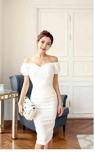 One-piece Dress One-piece Dress Cut Out Party Dress Office Lady