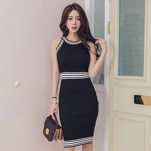 Knitted One-piece Dress One-piece Dress Sleeveless Sexy Wedding Party Dress