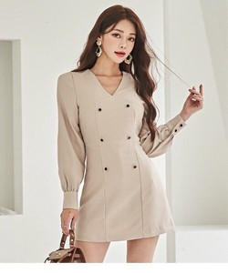 Line One-piece Dress Suits One-piece Dress Wedding Date Office Lady