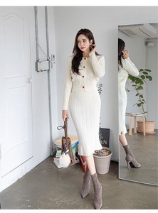One-piece Dress Set Knitted One-piece Dress One-piece Dress Long