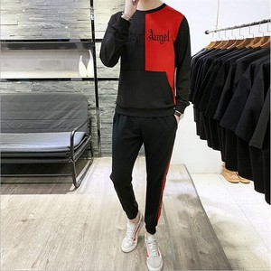 Men's Sweat Sweat 2 Pcs Set Sportswear Red