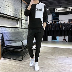 Men's Sweat Sweat 2 Pcs Set Sportswear White