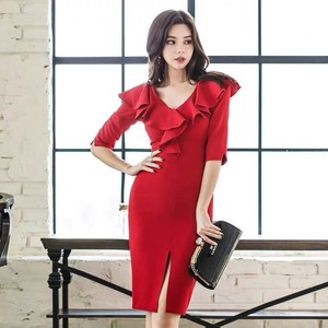 One-piece Dress Dress One-piece Dress Half Length Sleeve Length Knee-high Fashion